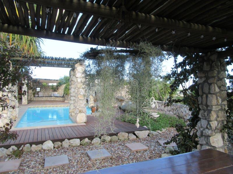 Garden beauty. Jacobs Bay garden creative living space Westcoast SouthAfrica royalty free stock photography