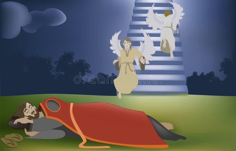 Jacobs Dream stock illustratie