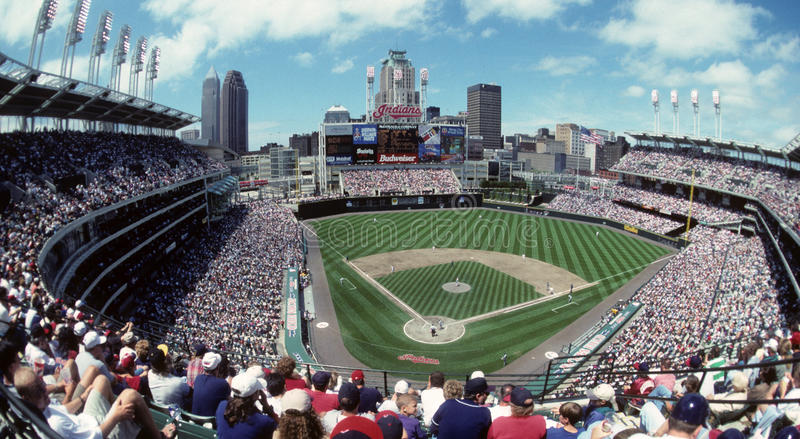 Jacobs Field Cleveland Indians stockfotografie