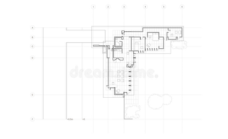 Jacobs house detailed plan royalty free stock photos for Detailed house plans