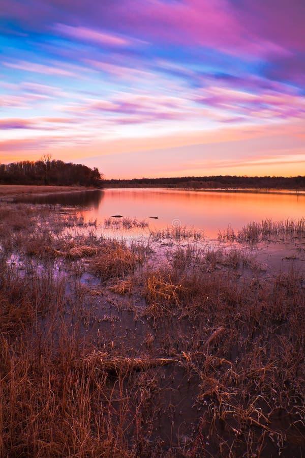 jacomo wschód słońca jeziorny pastelowy zdjęcia stock