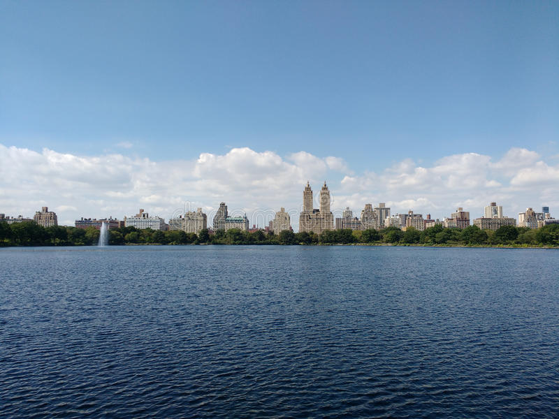 Jacqueline Kennedy Onassis Reservoir JKO-behållare, Central Parkbehållare, Manhattan, NYC, NY, USA arkivfoto