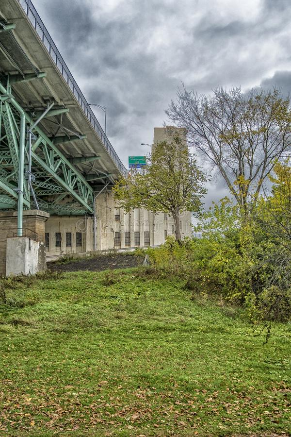 Jacques Cartier bridge. As seen from Saint Helen`s island Montreal,Quebec,Canada stock images