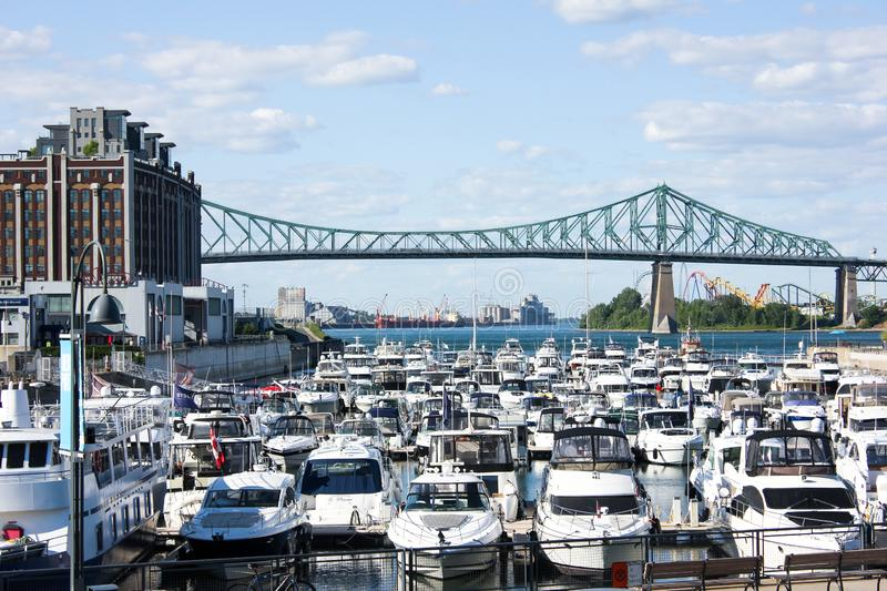 Jacques-Cartier Bridge - Montreal royalty free stock images