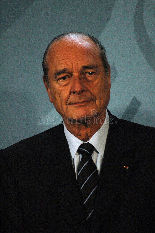 Jacques Chirac foto de archivo libre de regalías
