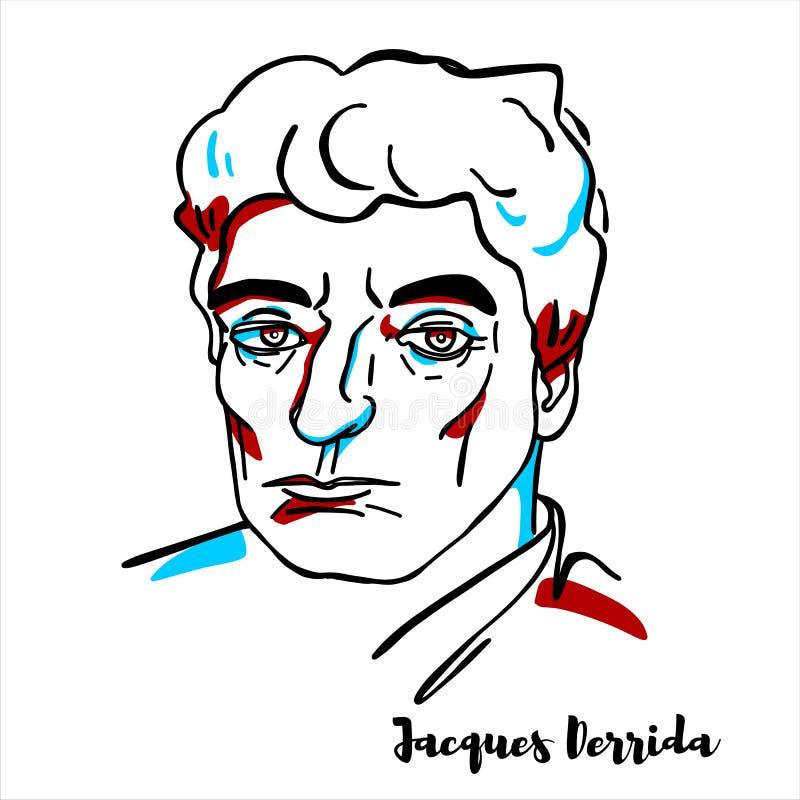 Jacques Derrida portret ilustracji