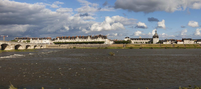 Jacques Gabriel Bridge in Blois. Blois, Pays de la Loire, France stock image