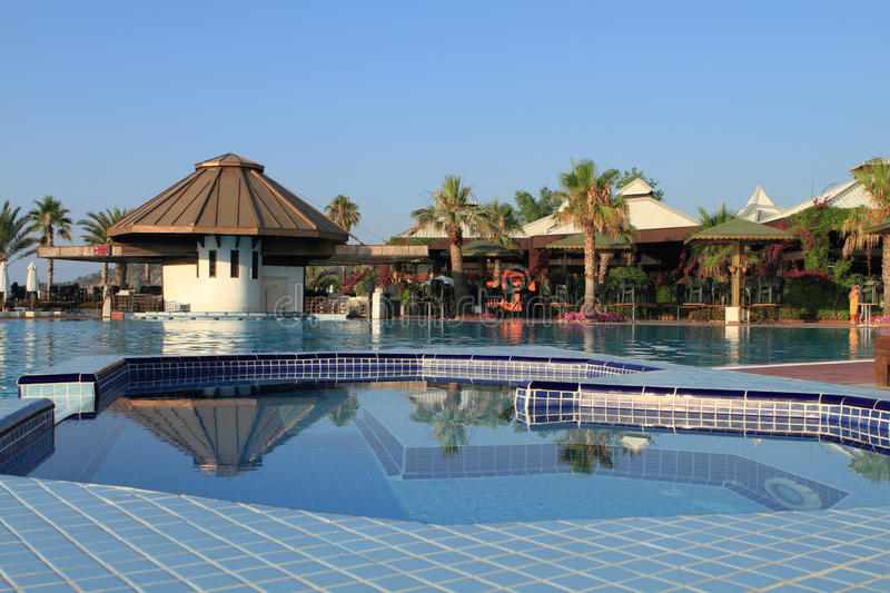 Download Jacuzzi And Pool In A Resort Royalty Free Stock Images - Image: 15170249