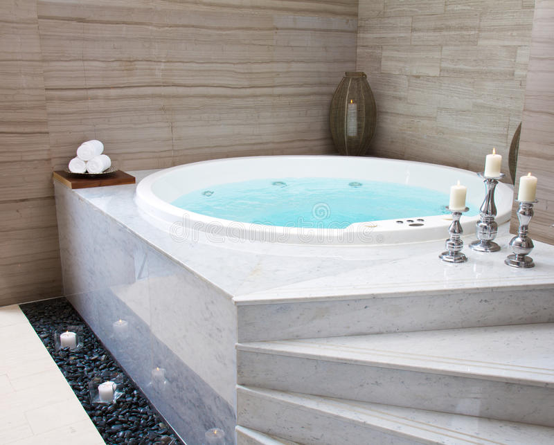 Jacuzzi. In a spa complex royalty free stock photo