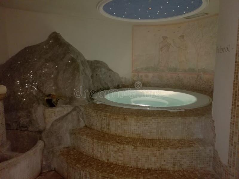 Jacuzzi Spa romantische atmosfeer royalty-vrije stock afbeeldingen
