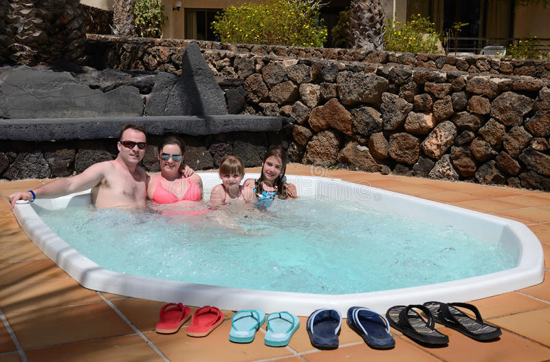 Download Jacuzzi For Whole Family Stock Photos - Image: 24274133