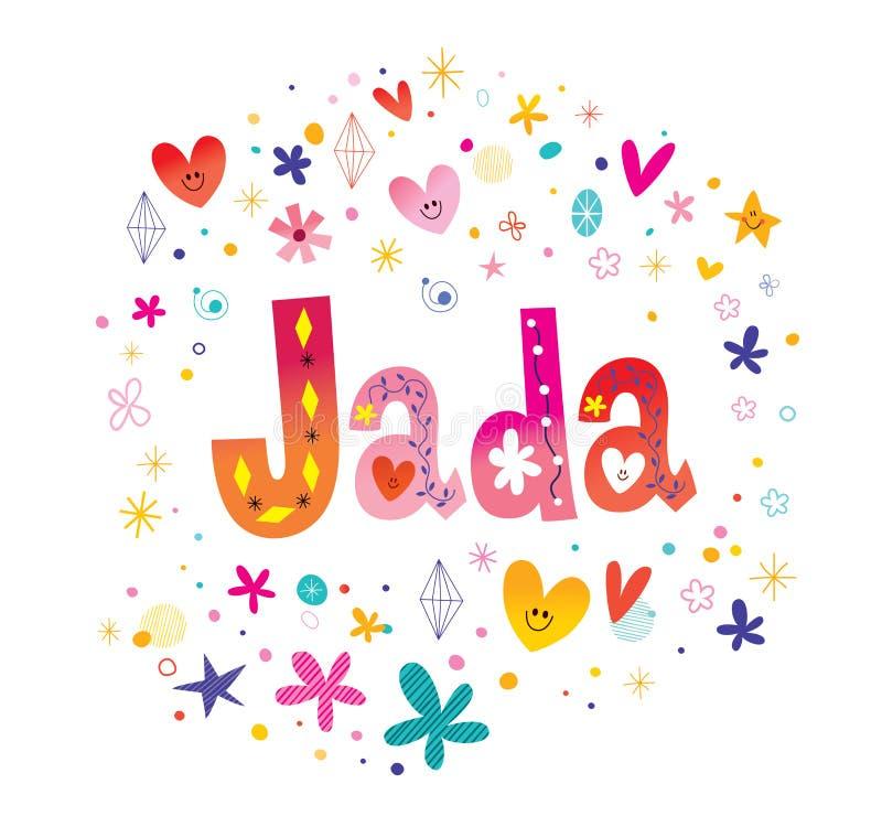 Jada女性名字 库存例证