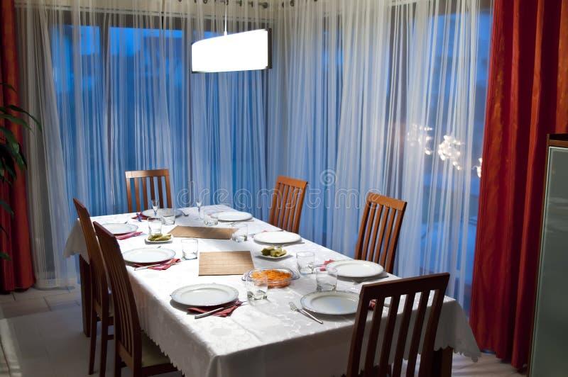 jadalnia stół obrazy royalty free