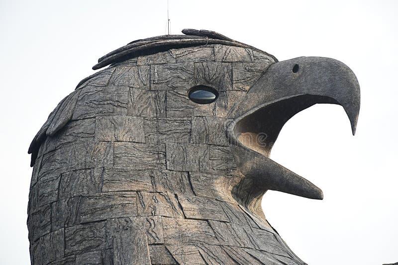 Jadayu - Earths center - Worlds biggest bird sculpture. Jadayu center - Worlds biggest eagle sculpture. Worlds first and biggest eagle / Jadayu sculpture stock images