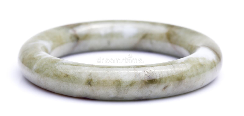 Jade Bangle i vit bakgrund royaltyfria foton