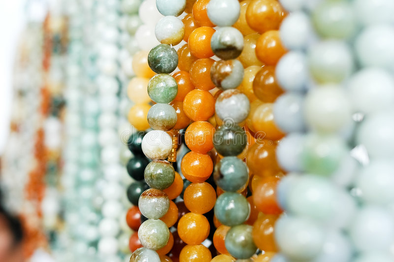 Jade beads stock photography