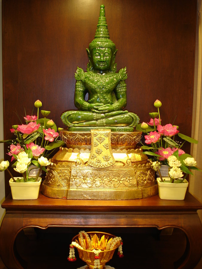 Jade Bouddha En Thaïlande Photographie stock libre de droits