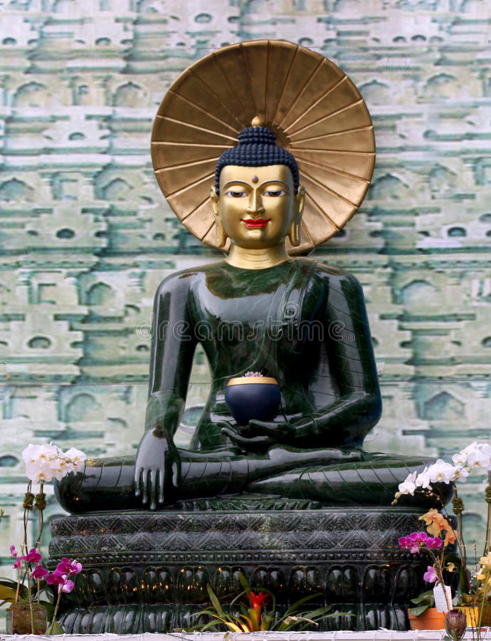 Jade Buddha for International Peace stock image