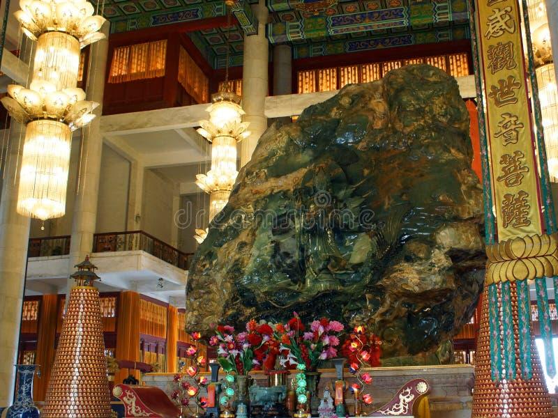Jade Buddha Palace. Backside of the Anshan Jade Buddha in The Mahavira Palace, Anshan, Liaoning Province, China. Jade Buddha Palace. Backside of the Anshan Jade royalty free stock image
