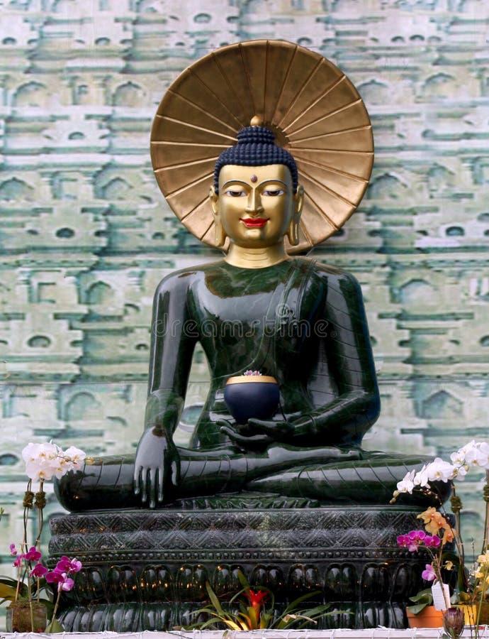 Jade Buddha para a paz internacional imagem de stock