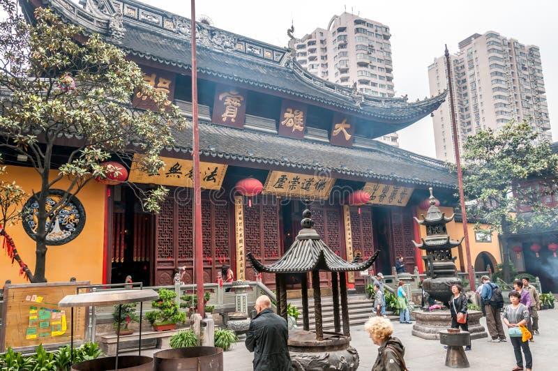 Jade Buddha Temple royaltyfri foto