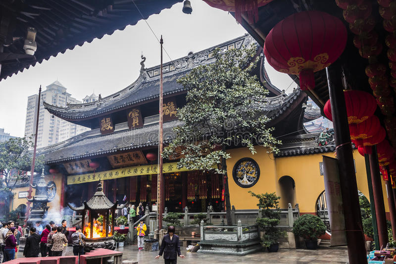 Jade Buddha Temple fotografering för bildbyråer