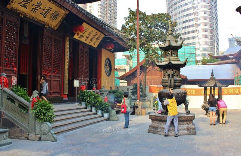 Jade Buddha Temple arkivfoto