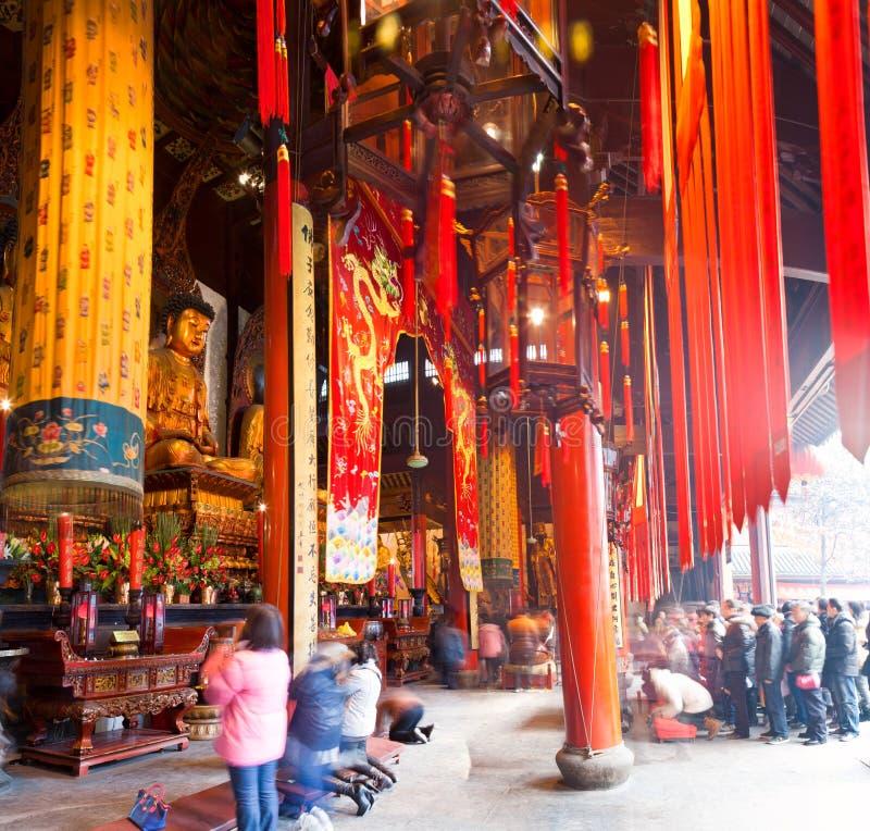 Jade Buddha Temple, Changhaï, Chine images libres de droits