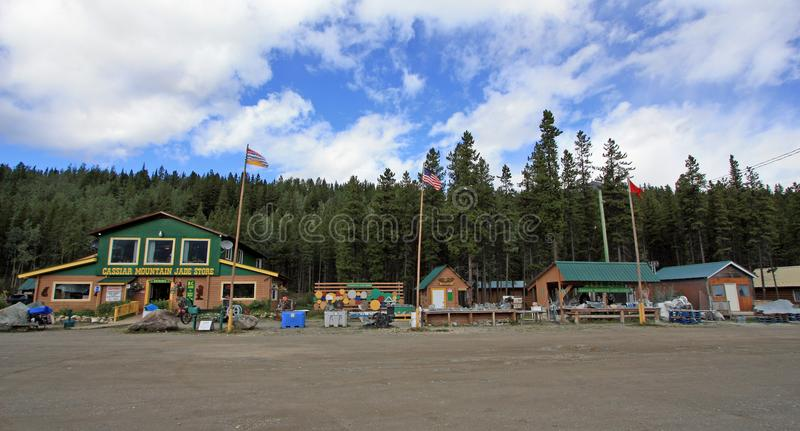 Jade City, British Columbia, Canada. Jade City, Canada - August 23, 2017: Jade City is a very small town located on the Stewart-Cassiar highway 37 in stock photos