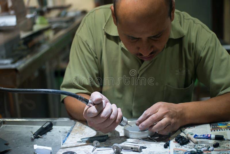Jade Craftsman hantverkare, kompetent arbetare royaltyfri bild