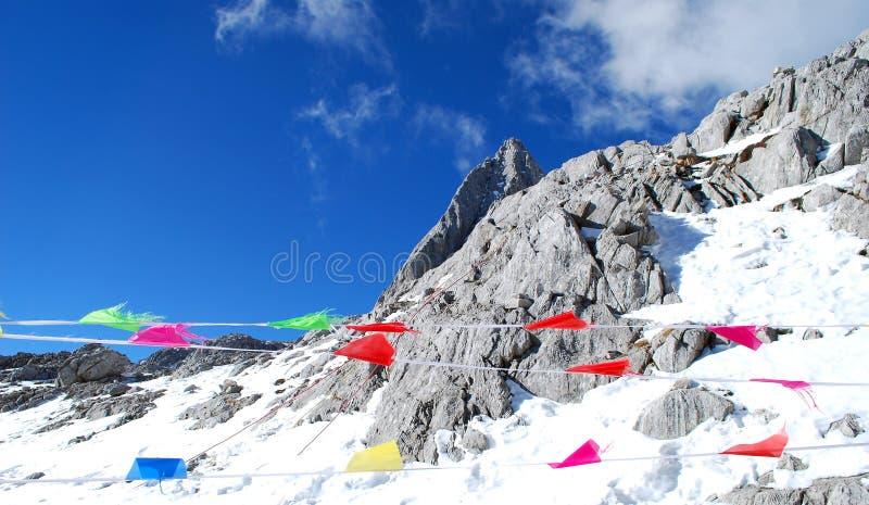 Jade de dragon de montagne de neige photo libre de droits