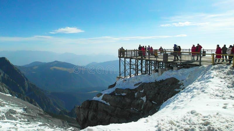 Jade Dragon Snow Mountain image libre de droits
