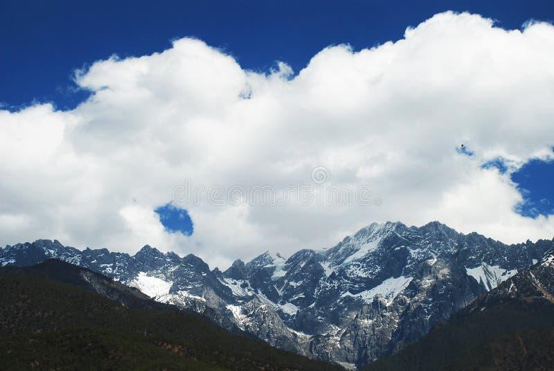 Jade Dragon Snow Mountain. In yunnan lijiang china stock image