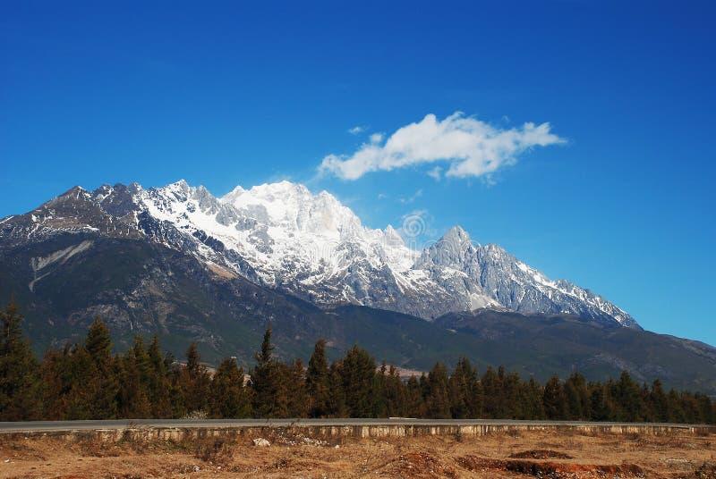 Jade Dragon Snow Mountain. In yunan lijiang china royalty free stock image