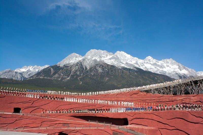 Jade Dragon Snow Mountain stockfoto
