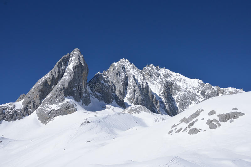 The Jade Dragon snow mountain. In China stock photos
