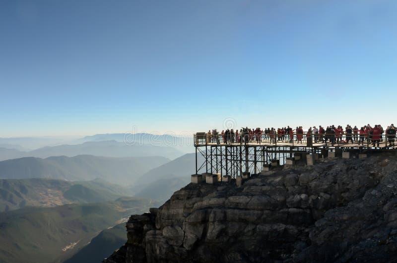 Jade Dragon Snow Mountain en Lijiang, China fotos de archivo libres de regalías