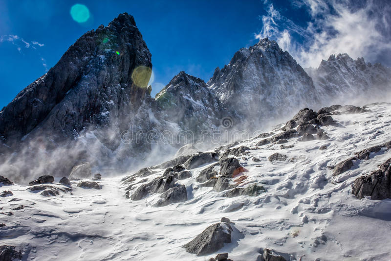 Jade Dragon Snow Swept Slope stockfotos