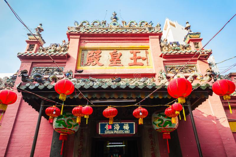 Jade Emperor Pagoda Taoist Temple royaltyfri fotografi