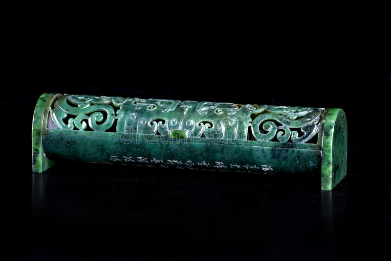 Jade incense burner stock photos