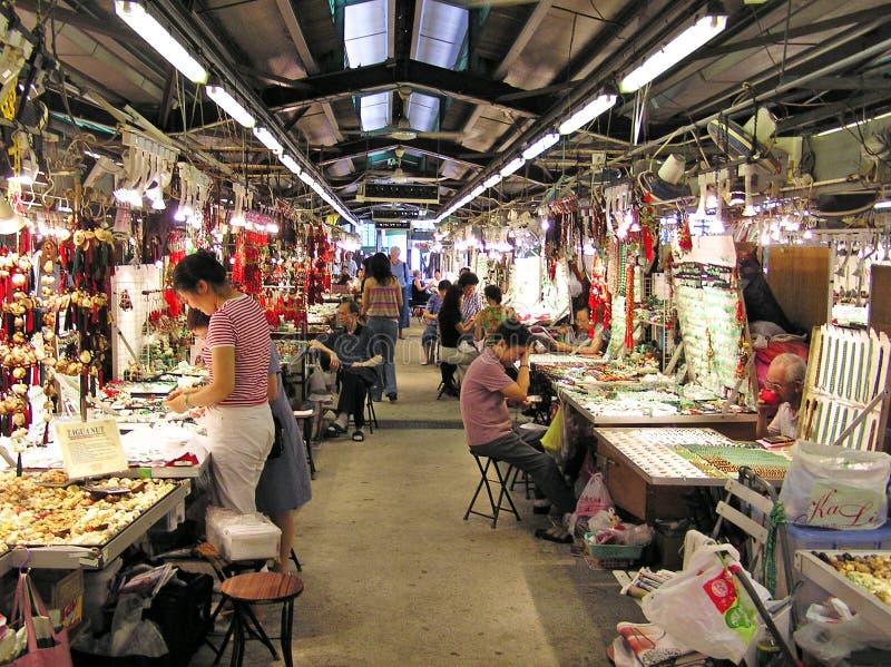 Jade Market i Hong Kong royaltyfri bild