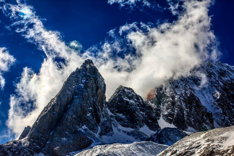 Jade Mountain Peaks lizenzfreie stockfotografie