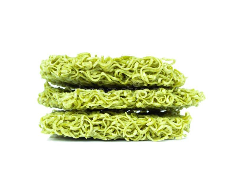 Jade Noodle isolerade på vit bakgrund royaltyfri bild