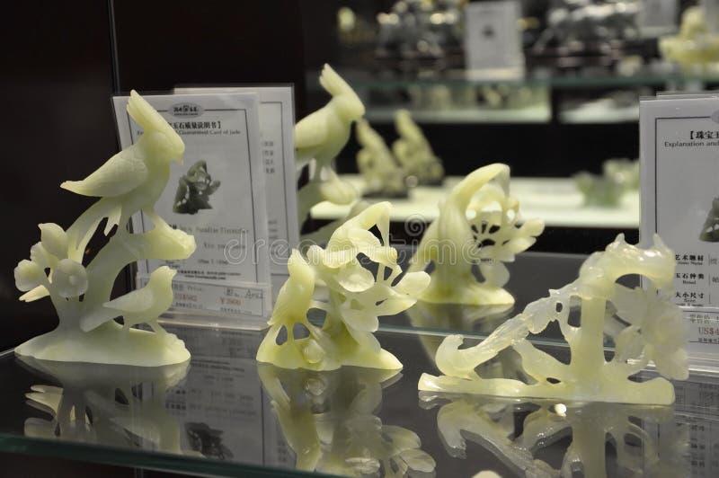 Jade Souvenirs i den kinesiska Jade Factory shoppar fr?n Peking royaltyfri fotografi