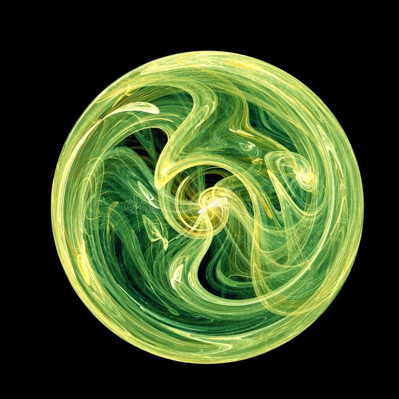 Jade twirl. Disc vector illustration