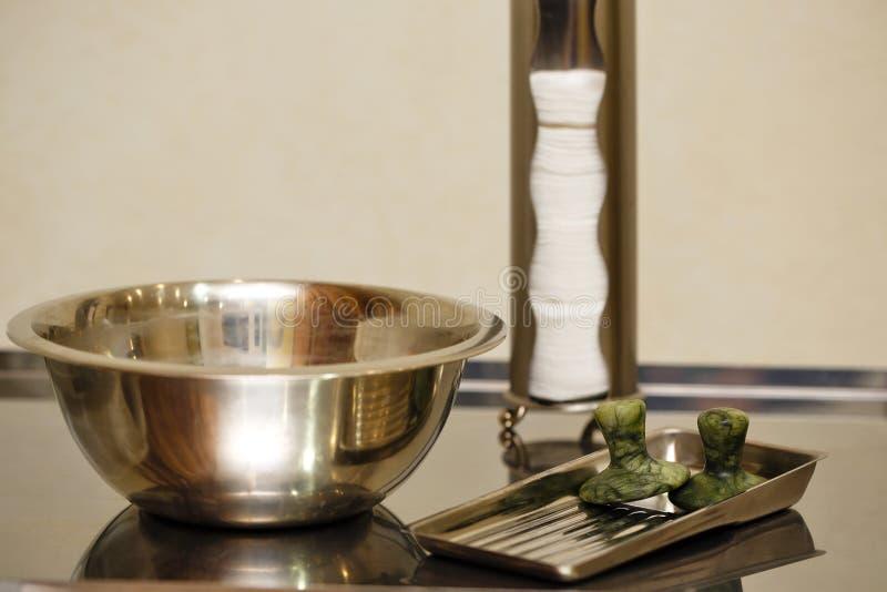 Jadestenar för massage arkivbild