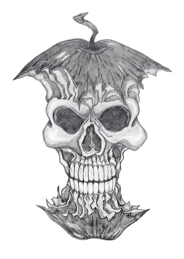 jadowity rysunku jabłczany ołówek royalty ilustracja