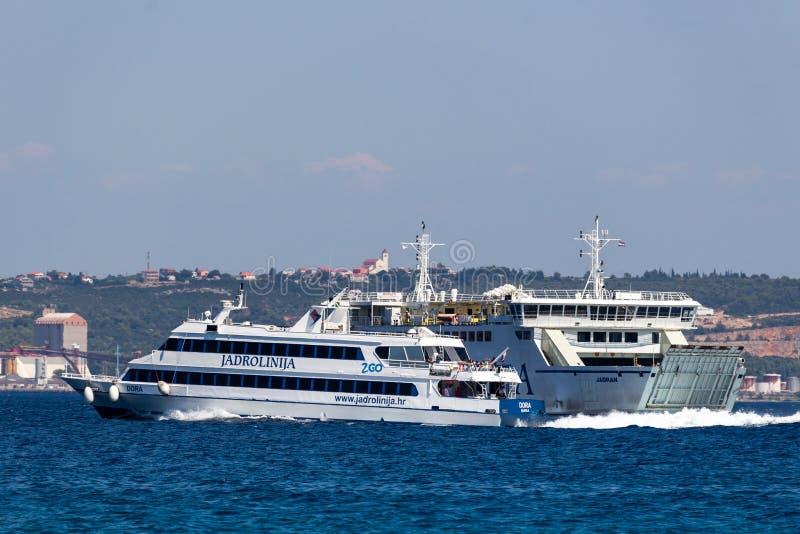 Jadrolinija-Passagierboot stockfotografie