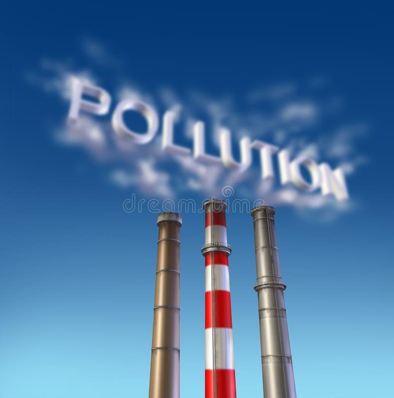 jadu zanieczyszczenia dymna sterta ilustracja wektor