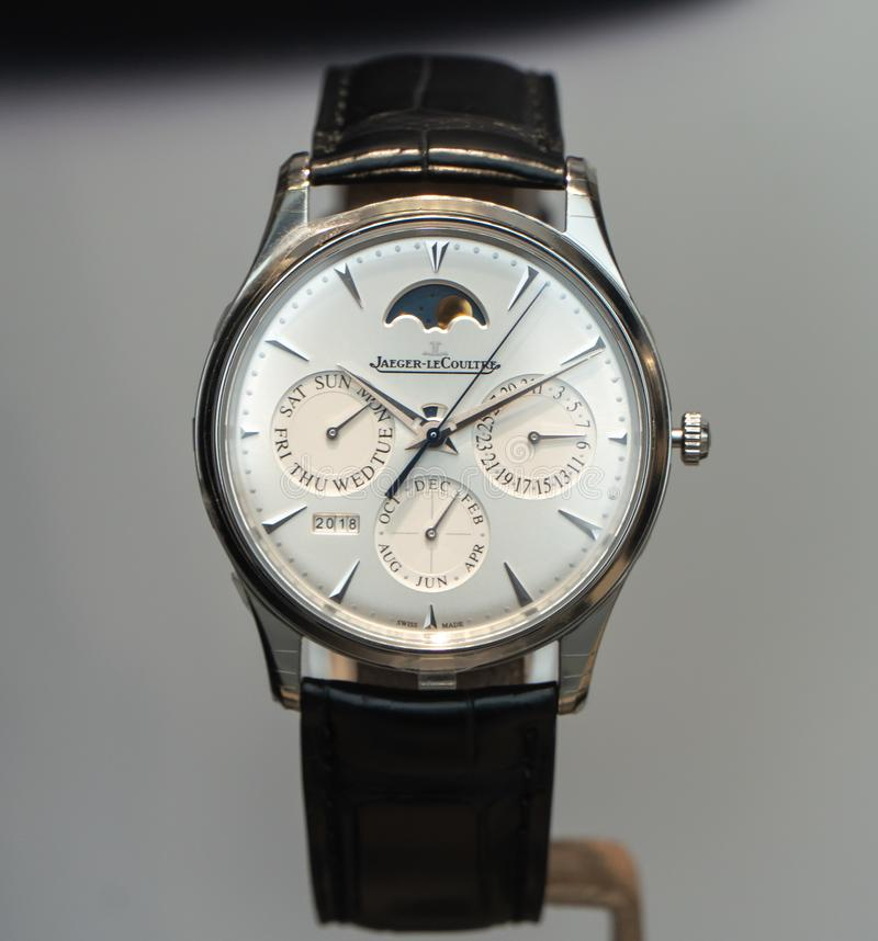 Jaeger LeCoultre-horloge stock afbeelding